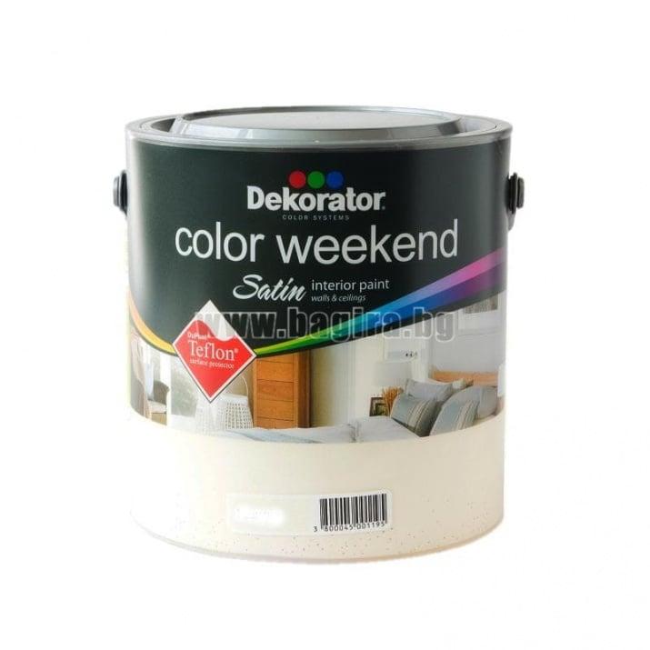 Латекс Color Weekend satin teflon Dekorator