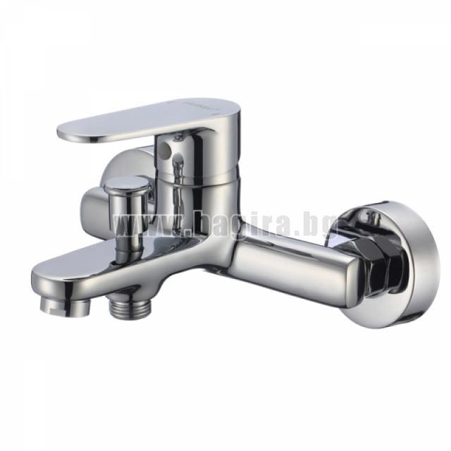 Стенен смесител за вана/душ - месинг, ф35