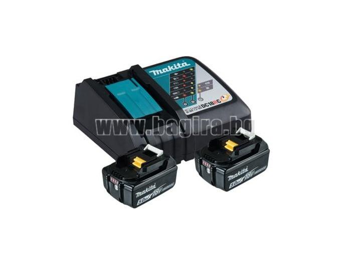 Комплект бързо зарядно устройство и 2 батерии BL1860B Makita