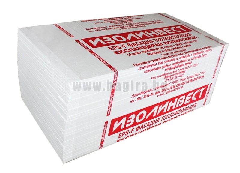 Топлоизолационни плоскости ЕPS 1000 х 500 х 30 мм. - Изолинвест