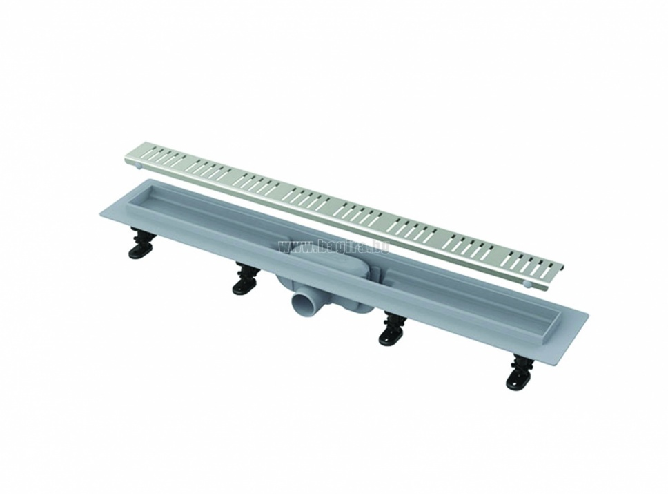 Линеен подов сифон 850 mm/ Ф40 неръждаема решетка