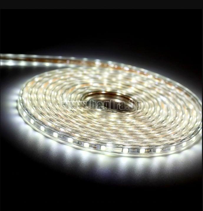 LED лента за външна употреба 10 м. - студено бяла светлина