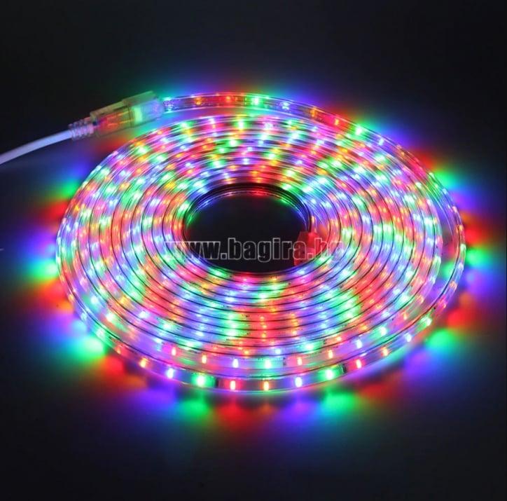 LED лента за външна употреба 10 м. - RGB разноцветна