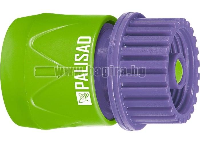"""Съединител, вътрешна резба 3/4"""", аквастоп, пластмасов"""