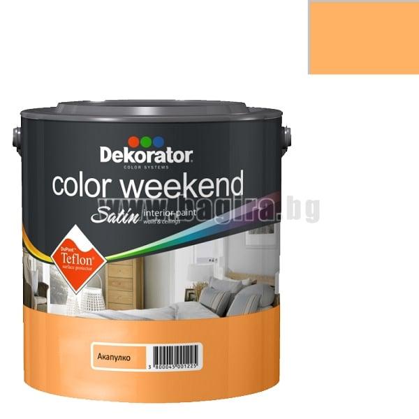 Латекс Color Weekend satin teflon Dekorator Латекс Color Weekend satin teflon-акапулко