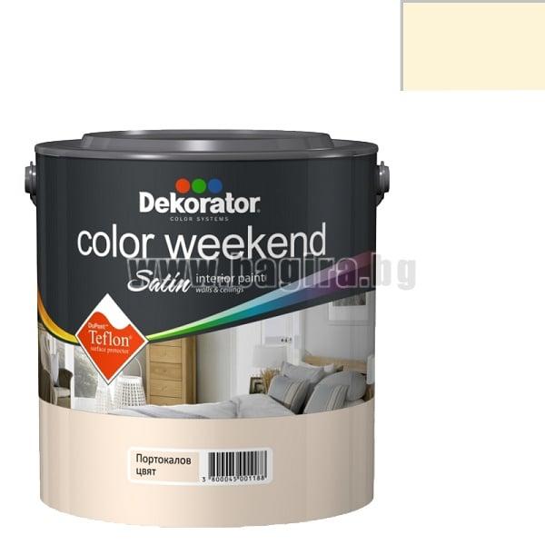 Латекс Color Weekend satin teflon Dekorator Латекс Color Weekend satin teflon-портокалов цвят