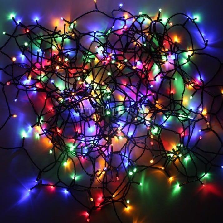 Коледни лампички тип гирлянд 200 бр. разноцветни