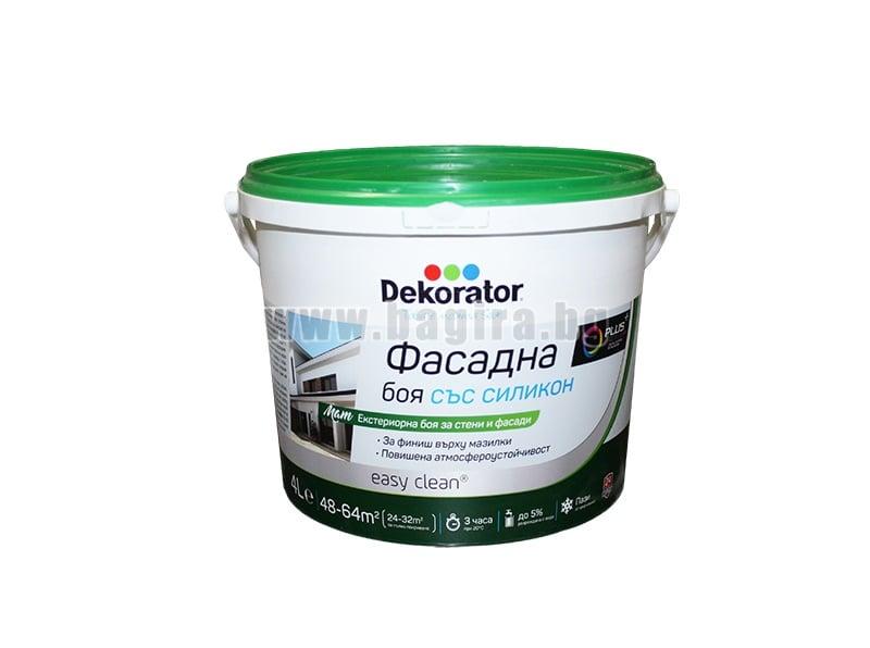Фасадна боя със силикон Dekorator Фасадна боя със силикон 4 л. Dekorator