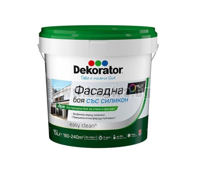 Фасадна боя със силикон Dekorator Фасадна боя със силикон 15 л. Dekorator