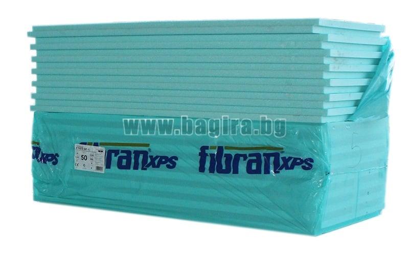 Топлоизолационни плоскости XPS 1250х600х30 мм. - Fibran (ГЛАДЪК)