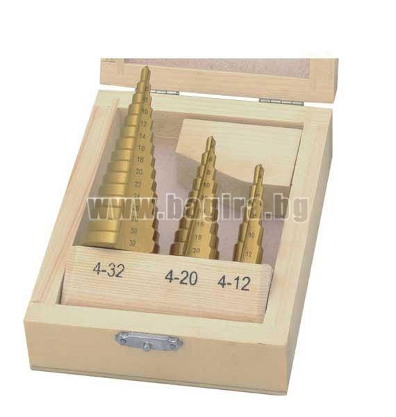 Комплект конусовидни свредла за ламарина Wert