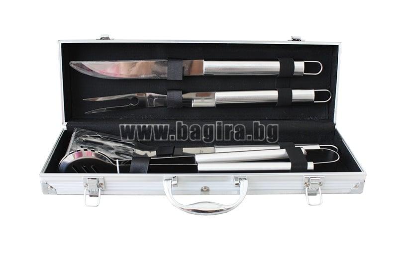 Комплект за барбекю 4 части в метален куфар