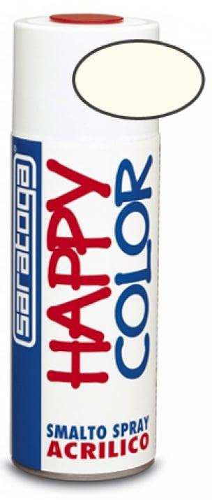 Акрилен спрей Happy Color Saratoga 400 мл. Спрей Бял гланц