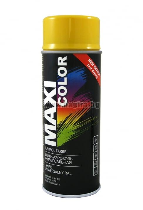 Бързосъхнеща акрилна спрей боя Maxi Color Спрей боя Maxi Color RAL 1021
