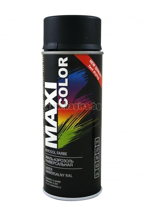 Бързосъхнеща акрилна спрей боя Maxi Color Спрей боя Maxi Color RAL 9005 мат