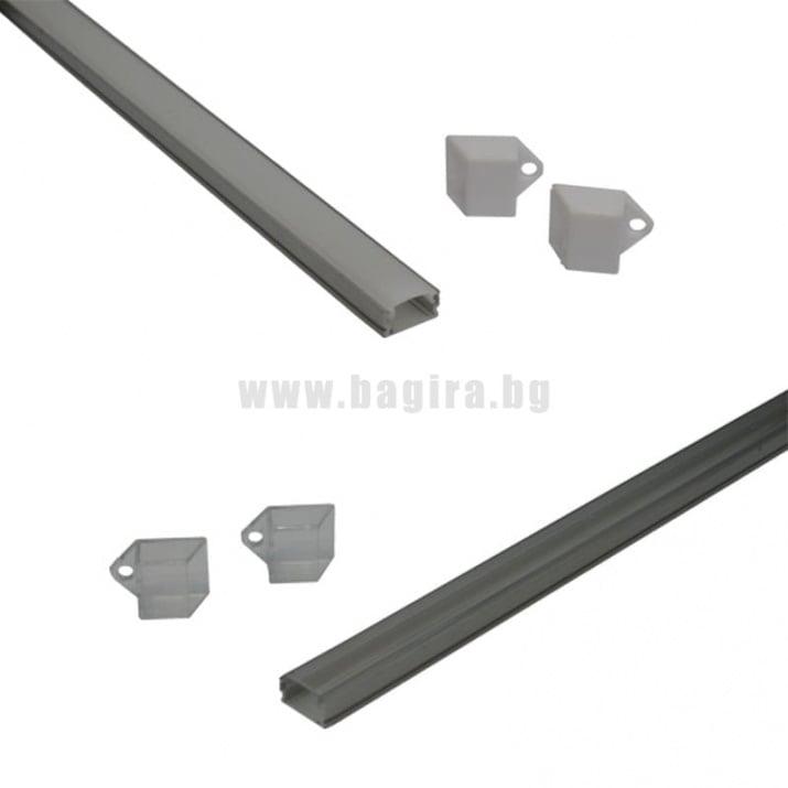 П-образен профил за LED лента П-образен профил за LED лента - прозрачна
