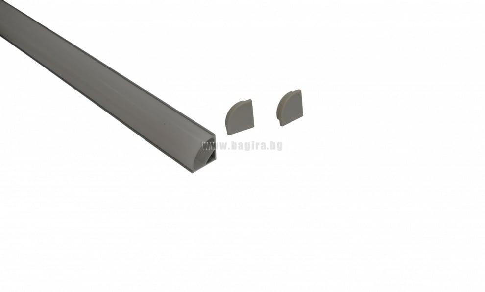 Прав ъглов профил за LED лента