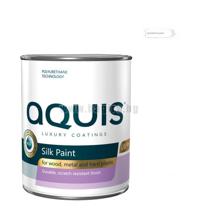Копринена боя Aquis  Копринена боя Aquis - Брилянтно бяло