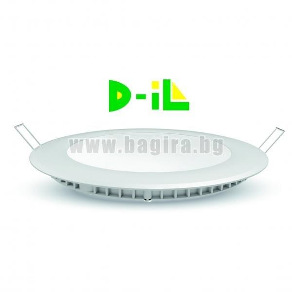 Кръгъл LED панел за вграждане D-iL