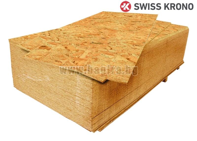 Плочи от ориентирани частици,влагоустойчиви OSB-3 15мм. - Swiss Krono