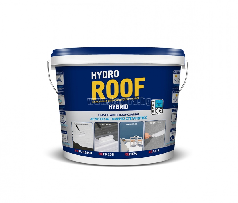 Хибридна UV хидроизолация за покриви Хидрозол ® Hydro Roof  Хибридна UV хидроизолация за покриви Хидрозол ® Hydro Roof  12 кг