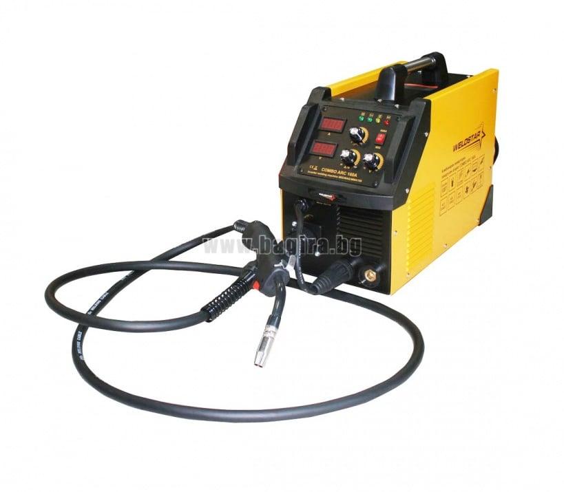 Комбиниран инверторен заваръчен апарат с телеподаващо устройство COMBO ARC 160 Weldstar