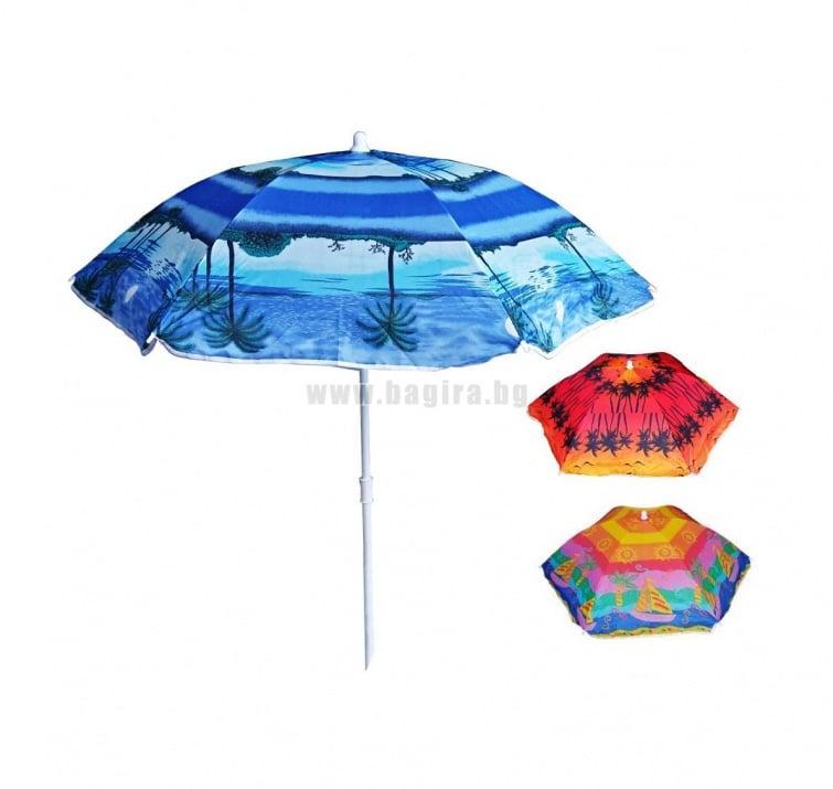 Плажен чадър - различни десени