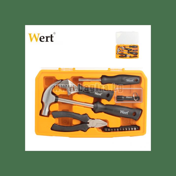 Комплект инструменти в пластмасово куфарче 17 части WERT 2191