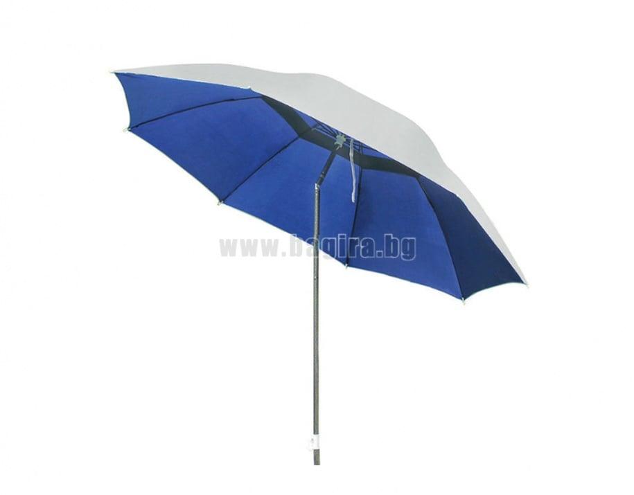 Плажен чадър с алуминиево покритие и чупещо се рамо WUB12