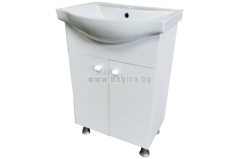Долен шкаф за баня от PVC КАЛА-2 55 см