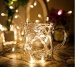 Коледни лампички тип гирлянд 100 бр. бяла светлина