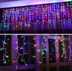 Коледна LED светеща завеса  - разноцветна светлина