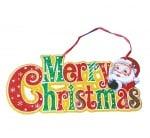 Коледна украса за врата Merry Christmas