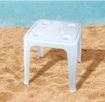 Маса за плаж с отвор за чадър