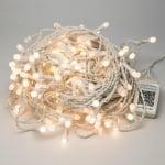Коледни лампички тип гирлянд 100 бр. - студено бяла светлина
